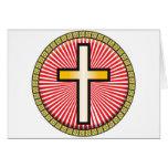 Icono cruzado cristiano tarjetón
