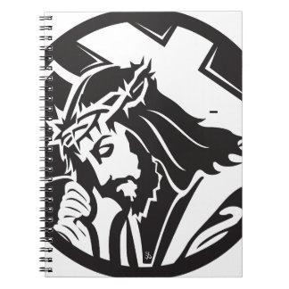 Icono cruzado del Jesucristo Libreta