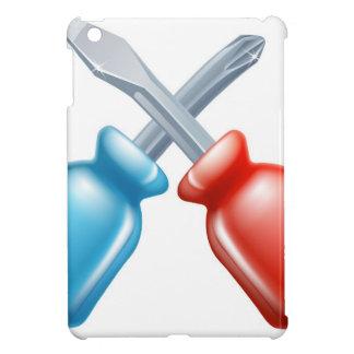 Icono cruzado destornilladores de las herramientas