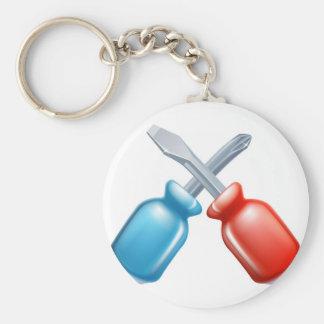 Icono cruzado destornilladores de las herramientas llaveros personalizados