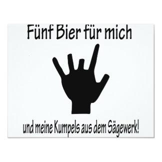 """icono de 5 de la féretro del für del mich del und invitación 4.25"""" x 5.5"""""""