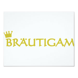 Icono de Bräutigam Invitación 10,8 X 13,9 Cm