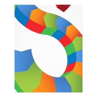 Icono de Chevron de la flecha de la muestra de Plantilla De Membrete
