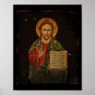 Icono de Chrystus Pantokrator (Jesús) Poster