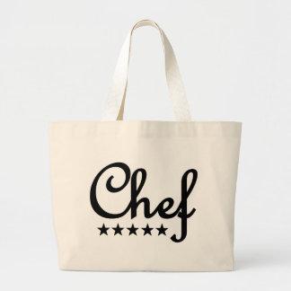 icono de cinco estrellas del cocinero bolsas lienzo