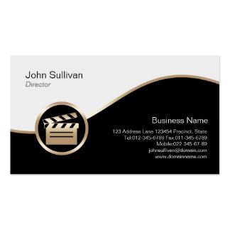 Icono de Clapperboard del oro de la tarjeta del di Tarjeta Personal