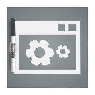 Icono de Configs de los datos Pizarras Blancas De Calidad