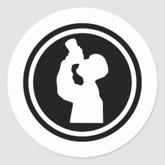 icono de consumición del alcohol pegatina redonda
