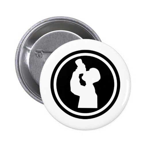 icono de consumición del alcohol pin redondo 5 cm