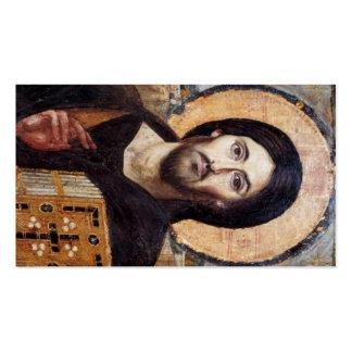 Icono de Cristo/rezo de Jesús Tarjeta De Visita