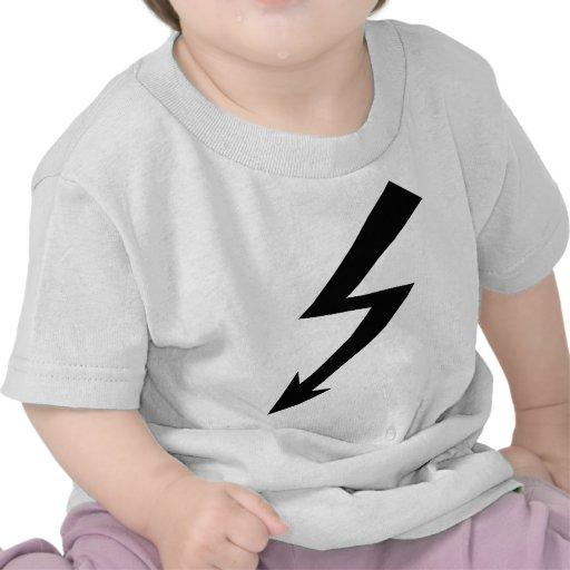 icono de destello negro camiseta