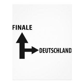 icono de deutschland del final tarjeta publicitaria