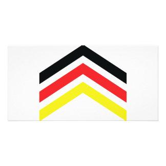 Icono de Deutschland Flagge Tarjeta Personal Con Foto