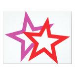 icono de dos estrellas invitación 10,8 x 13,9 cm