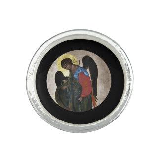 Icono de Gabriel del ángel Anillo Con Foto