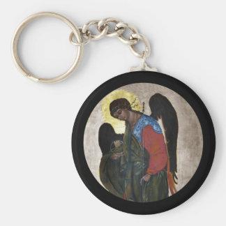 Icono de Gabriel del ángel Llavero Redondo Tipo Pin
