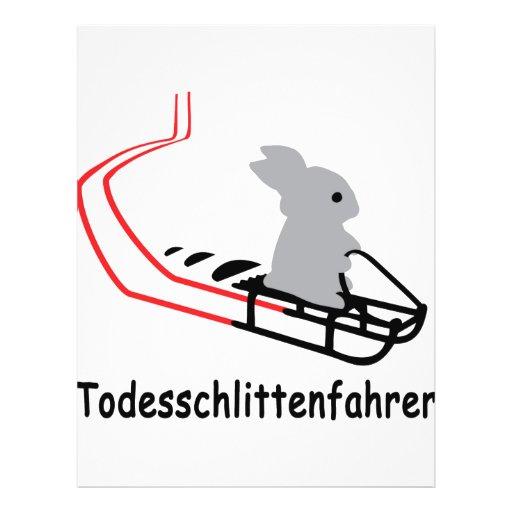 """Icono de Hase Todesschlittenfahrer Folleto 8.5"""" X 11"""""""
