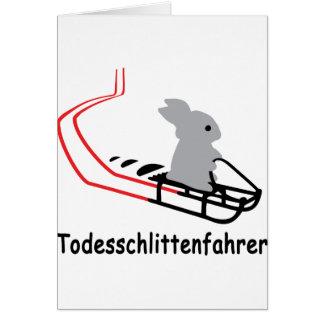 Icono de Hase Todesschlittenfahrer Tarjeta De Felicitación
