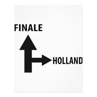 icono de Holanda del final Tarjetas Publicitarias