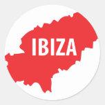 Icono de Ibiza Pegatinas Redondas