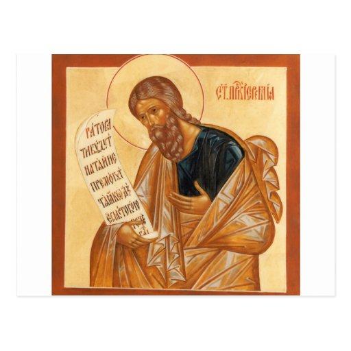 Icono de Jeremiah del santo Postal