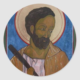 Icono de Jude del santo Pegatina Redonda