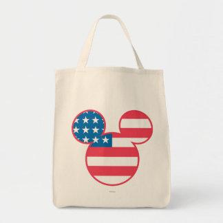 Icono de la bandera de la cabeza del ratón de bolsa tela para la compra