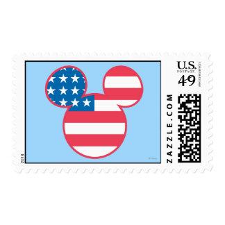Icono de la bandera de la cabeza del ratón de sello postal