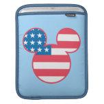 Icono de la bandera de Mickey Mouse los E.E.U.U. Funda Para iPads