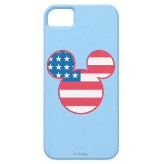 Icono de la bandera de Mickey Mouse los E.E.U.U. iPhone 5 Carcasa