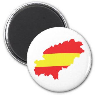 Icono de la bandera del contorno de Ibiza Imán Redondo 5 Cm