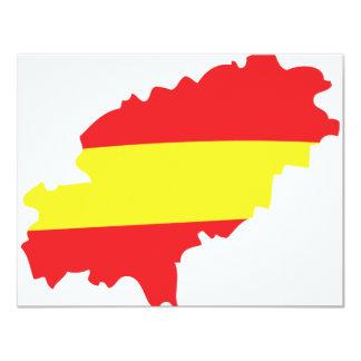 """Icono de la bandera del contorno de Ibiza Invitación 4.25"""" X 5.5"""""""