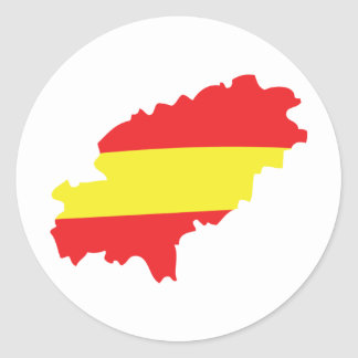 Icono de la bandera del contorno de Ibiza Pegatinas Redondas