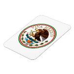 Icono de la bandera mexicana de Viva México con el Imán Rectangular