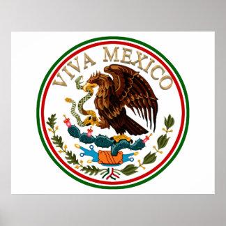 Icono de la bandera mexicana de Viva México con el Póster