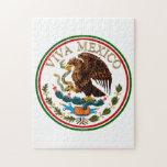 Icono de la bandera mexicana de Viva México con el Rompecabezas Con Fotos