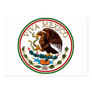 Icono de la bandera mexicana de Viva México con el Tarjetas De Visita Grandes