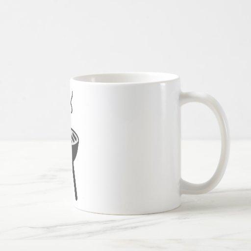 icono de la barbacoa taza básica blanca