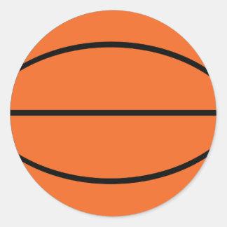 Icono de la bola del baloncesto pegatinas redondas