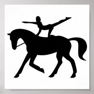 icono de la bóveda del caballo póster