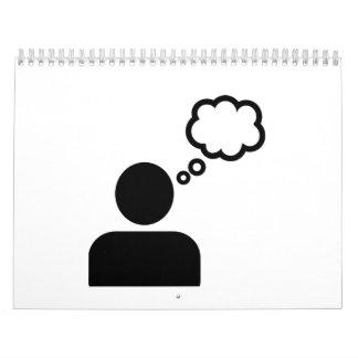 Icono de la burbuja del discurso calendario