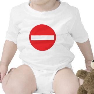 icono de la calle de sentido único trajes de bebé
