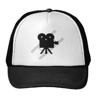 icono de la cámara de la película gorras
