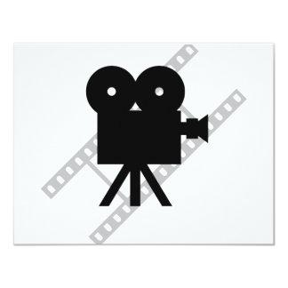 icono de la cámara de la película invitación 10,8 x 13,9 cm
