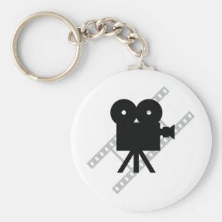 icono de la cámara de la película llavero personalizado