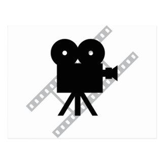 icono de la cámara de la película postales