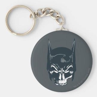 Icono de la capucha/del cráneo de Batman Llavero Redondo Tipo Pin