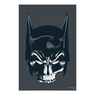 Icono de la capucha/del cráneo de Batman Poster