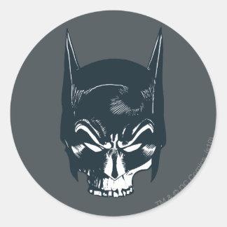 Icono de la capucha/del cráneo de Batman Pegatina Redonda