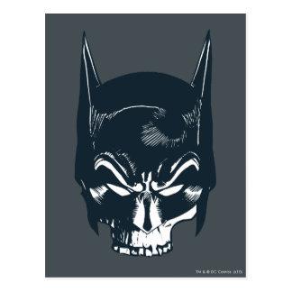 Icono de la capucha/del cráneo de Batman Postales